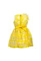 Φόρεμα κίτρινο με λουλούδι και φερμουάρ επίσημο κορίτσι petit