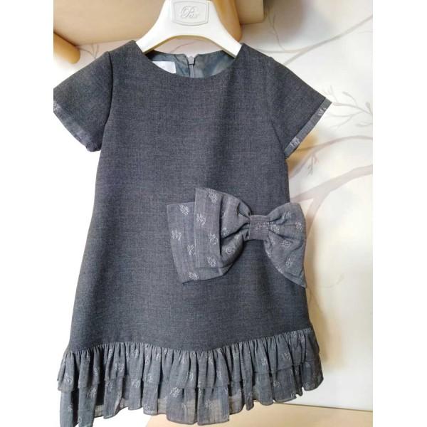 Φόρεμα για κοριτσάκι γκρι Petit