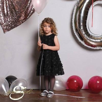 Φόρεμα για κοριτσάκι μαύρο με καρδούλες Sarah Chole