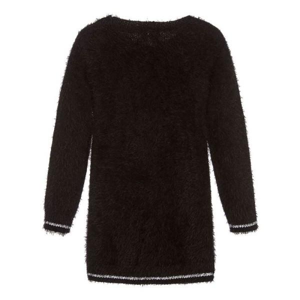 Φόρεμα μπλούζα κοριτσιού μαύρη χειμωνιάτικη 3Pommes