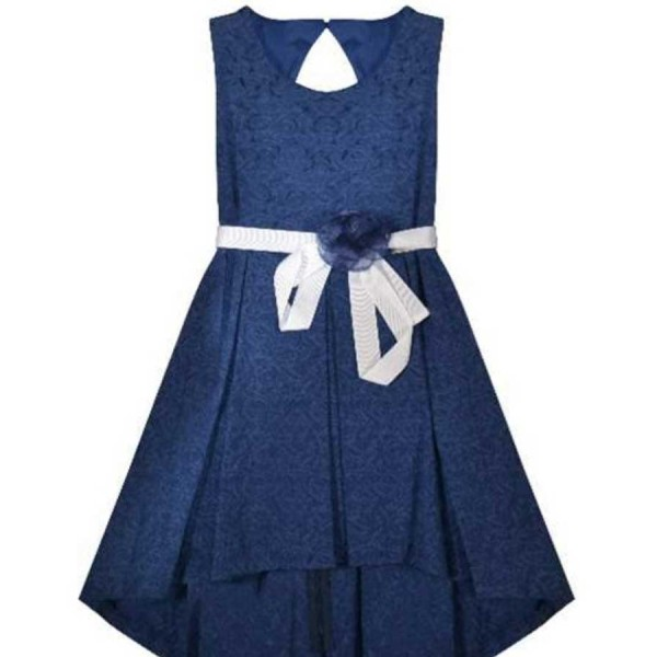 Φόρεμα μπλε αμάνικο sarahchole