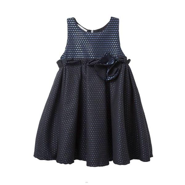 Φόρεμα κοριτσιού σε μπλε - μαύρο χρώμα πολύ ιδιαίτερο και λαμπερό - Two in a Castle
