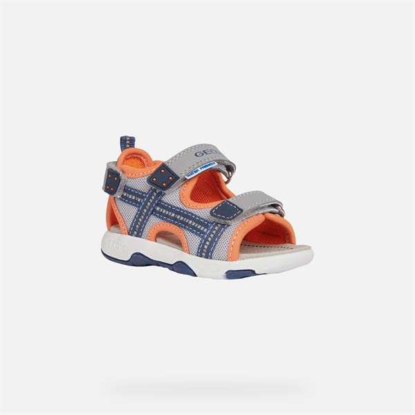 Παπούτσι κοριτσιού SANDALS Multy Baby Boy Grey And Fluo Orange