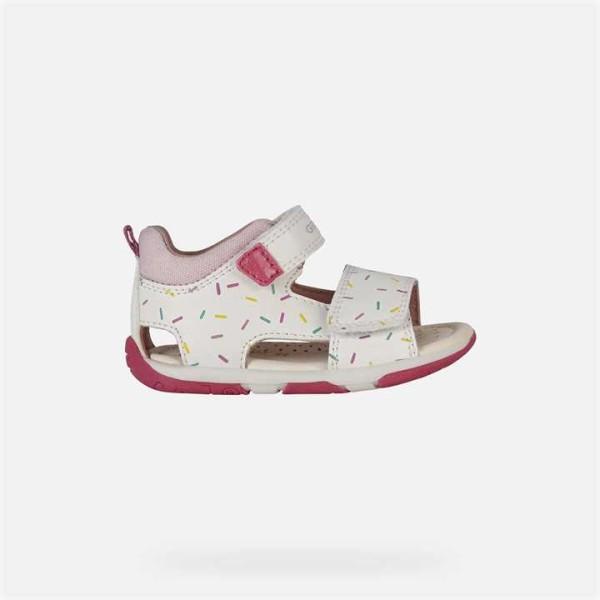 Παπούτσι κοριτσιού Geox Sandal Tapuz Baby Girl White And Pink