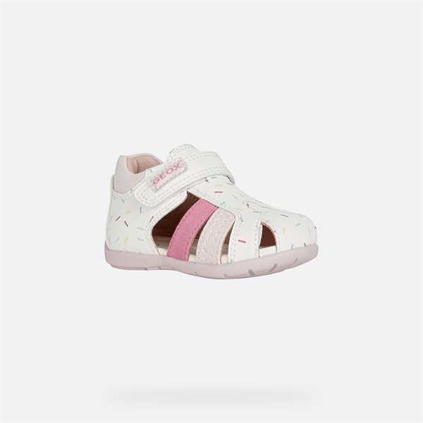 Παπούτσι κοριτσιού Geox Elthan Baby Girl White And Pink
