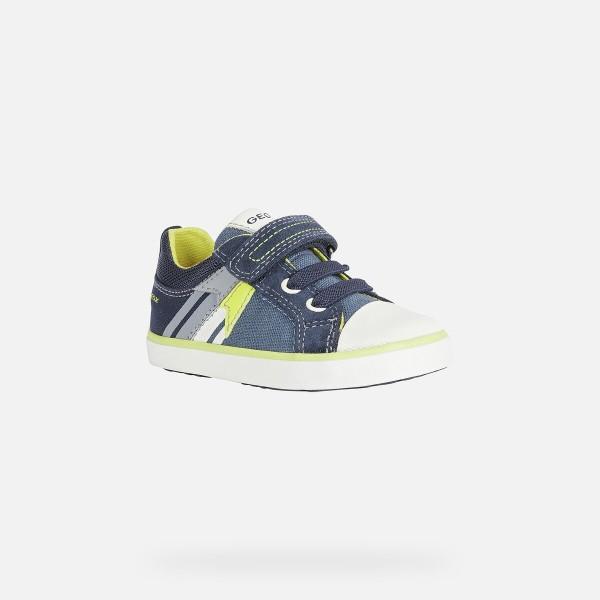 Παπούτσι αγοριού Geox SNEAKERS Kilwi Baby Boy Avio And Fluo Yellow