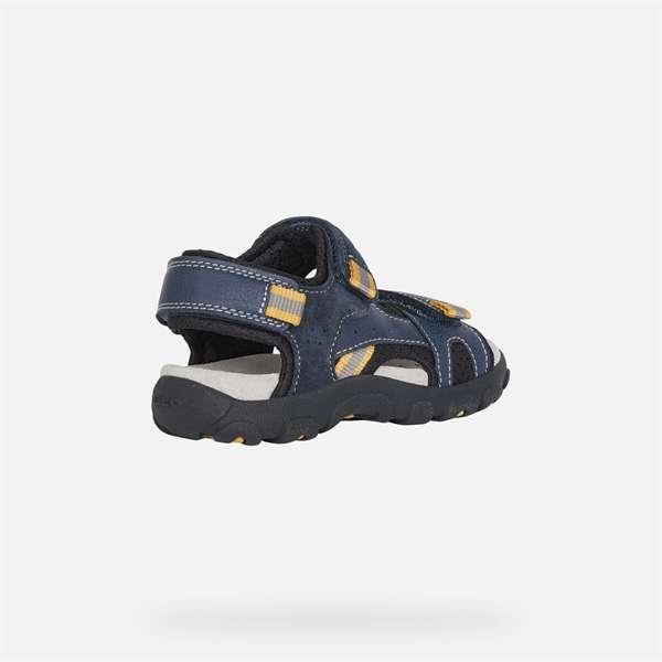 Παπούτσι αγοριού Geox SANDALS Strada Boy Navy And Dark Yellow