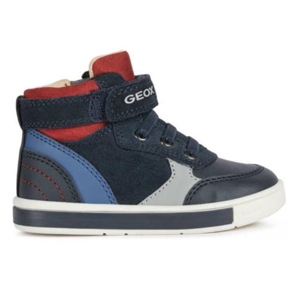 Παπούτσι για αγόρι Sneakers Μπλε/Κόκκινο Suede - Geox Trottola