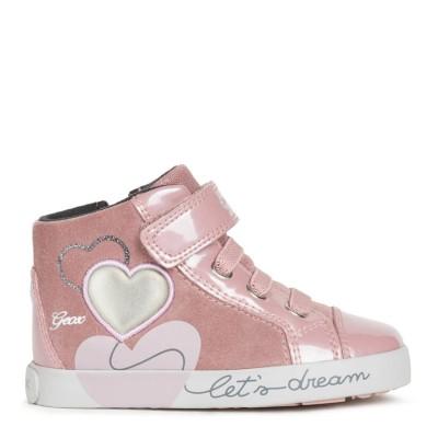 Παπούτσι κοριτσιού μποτάκι σε ροζ χρώμα της εταιριας Geox B16D5B 022HI C8025
