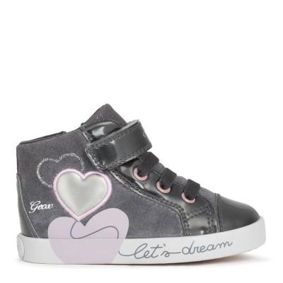 Παπούτσι κοριτσιού μποτάκι σε γκρι χρώμα της εταιριας Geox B16D5B 022HI C9002