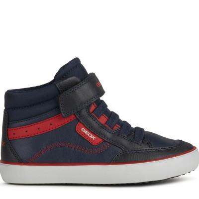 Παπούτσι αγοριού σε μπλε/κόκκινο χρώμα της εταιριας  Geox J165CB 054FU C0735