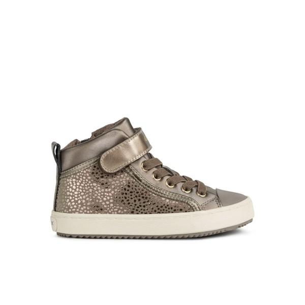 Παπούτσι κοριτσιού σε χρώμα μπέζ/χρυσό της εταιριας Geox J744GI 0DHAJ C5005