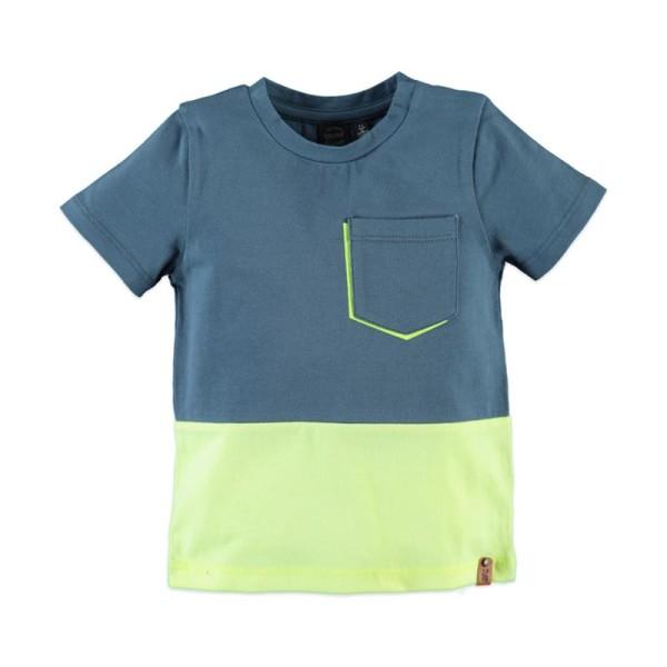 Μπλούζα αγοριού δίχρωμη με κοντό μανίκι Babyface t-shirt -LAKE
