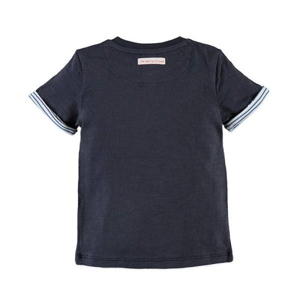 Μπλούζα αγοριού σε μπλε χρώμα με κοντό μανίκι Babyface t-shirt - INK