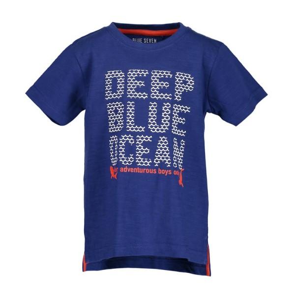 Μπλούζα μακό μπλε ελεκτρικ με γράμματα αγόρι Blue seven