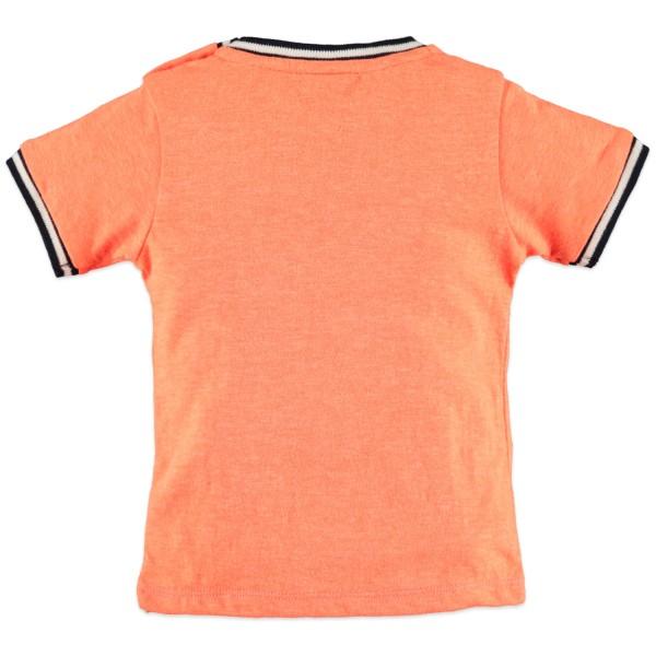 Μπλούζα μακό πορτοκάλι με τύπωμα αγόρι Babyface