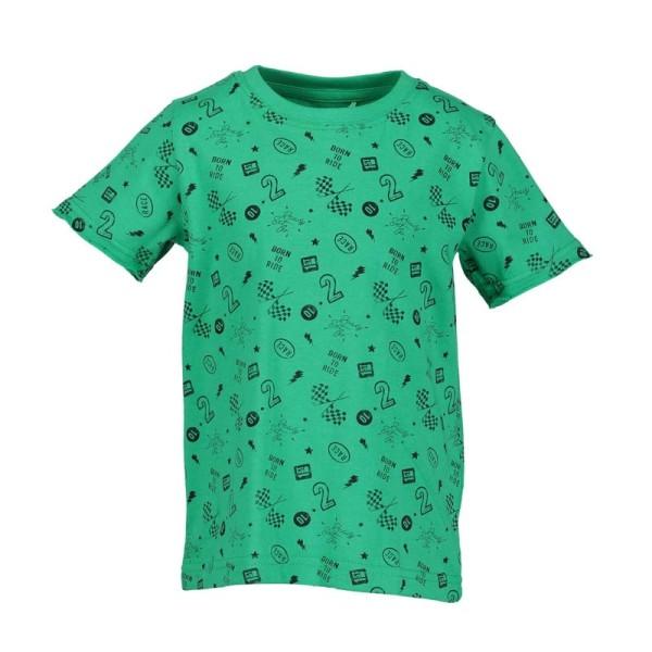 Μπλούζα μακό πράσινη με γράμματα αγόρι Blue seven