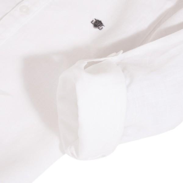 Πουκάμισα λίνο λευκή με κουμπιά αγόρι 3pommes