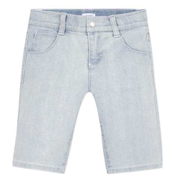 Βερμούδα σιέλ τζιν μαλακό βαμβακερό με τσέπες φερμουάρ αγόρι absorba