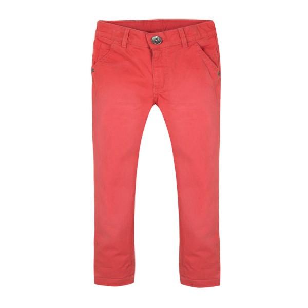Παντελόνι κόκκινο μακρύ τύπου τζιν με φερμουάρ και τσέπες αγόρι 3Pommes