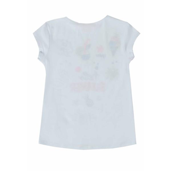 Μπλούζα μακό άσπρη με μαρκαδόρους που την ζωγραφίζουν κορίτσι ubs2