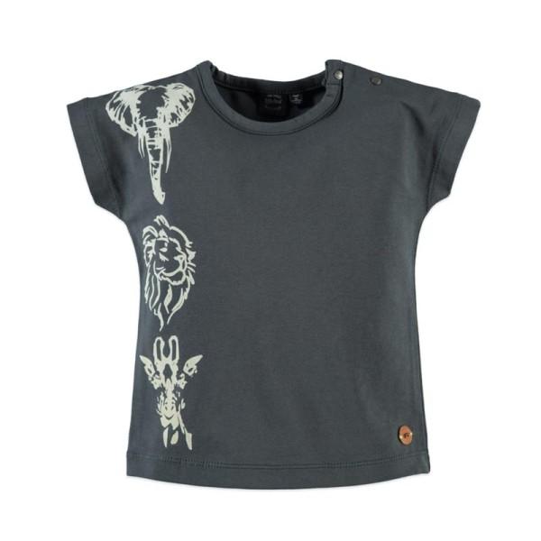 Μπλούζα κοριτσιού γκρι με κοντό μανίκι Babyface t-shirt - GREY