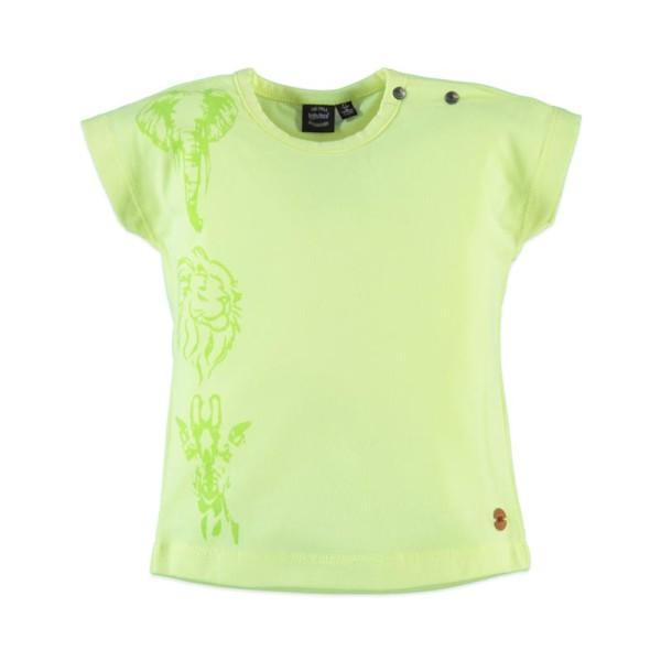 Μπλούζα κοριτσιού κίτρινη με κοντό μανίκι Babyface t-shirt - NEON YELLOW