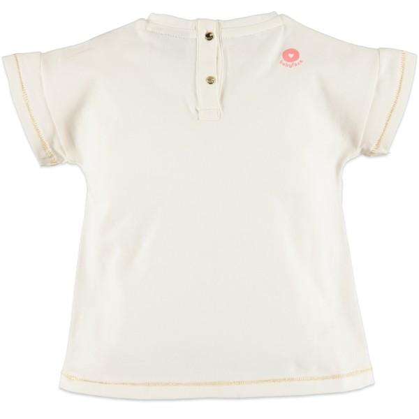 Μπλούζα μακό λευκό χρώμα με τύπωμα γράμματα κοντό μανίκι κορίτσι Babyface