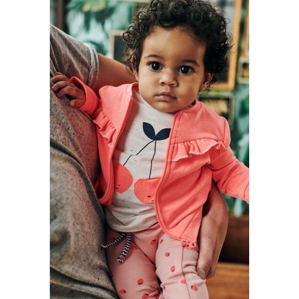 Μπλούζα μακό μπεζ με τύπωμα κοντό μανίκι κορίτσι Babyface