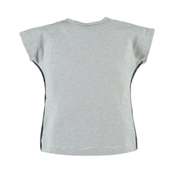 Μπλούζα κοριτσιού γκρι με κοντό μανίκι Babyface t-shirt - GREY - AFRICA