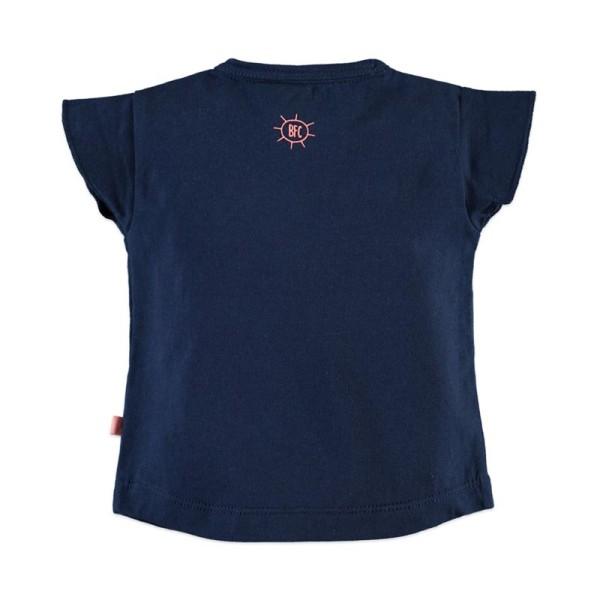 Μπλούζα κοριτσιού σε μπλε χρώμα με κοντό μανίκι Babyface t-shirt - MIDNIGHT BLUE