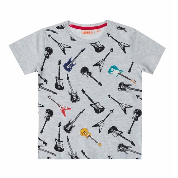 Μπλούζα μακό γκρι με γράμματα αγόρι ubs2