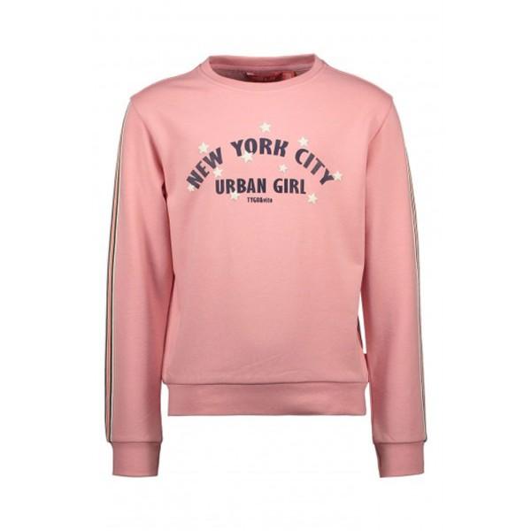 Μπλούζα κοριτσιού σε ρόζ χρώμα με λεπτομέρεια στο μπροστινό μέρος της Τygo & Vito X108-5301_220