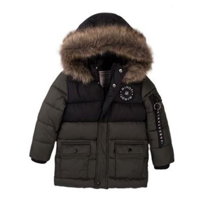 Μπουφάν χακί αγοριού με γούνα πολυ ζεστό της εταιρίας Μinoti Random2