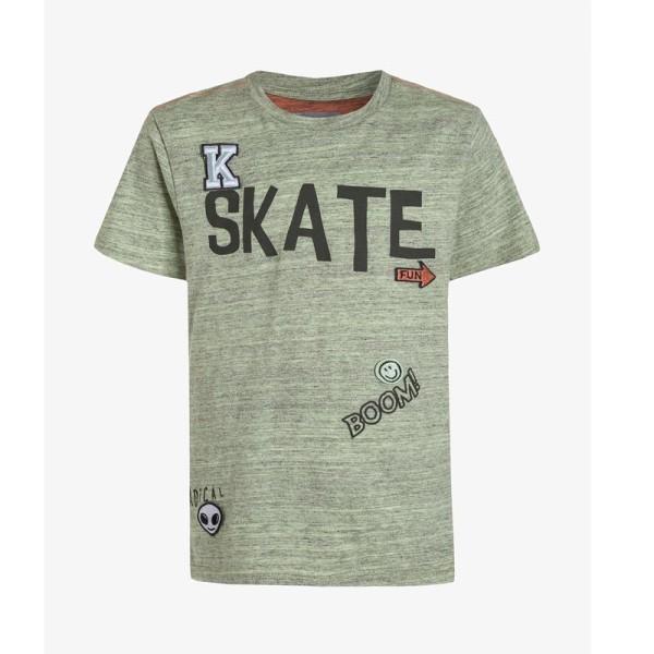 Μπλούζα για αγόρι πράσινη  με κοντό μανίκι Kanz