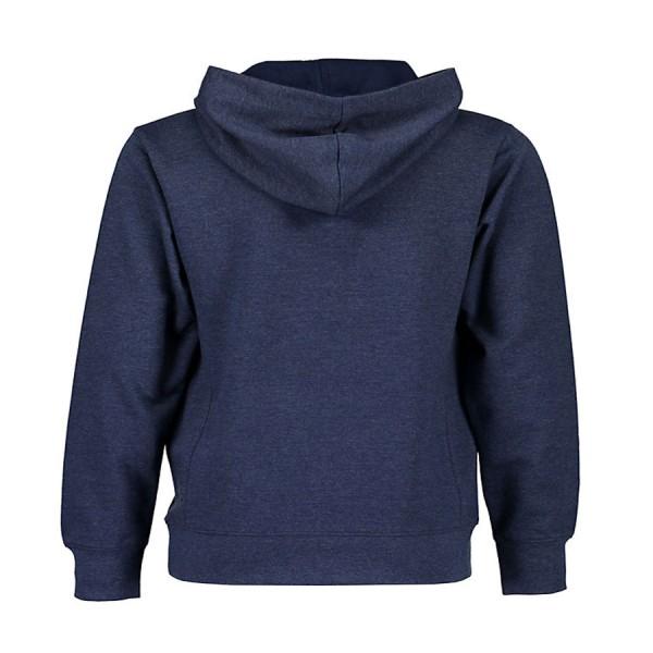 Μπλούζα φούτερ μπλε με τύπωμα γράμματά με κουκούλα μακρύ μανίκι blue seven