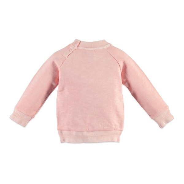 Μπλούζα πουλόβερ κοριτσιού ροζ Babyface salmon pink