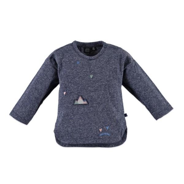 Μπλούζα πουλόβερ κοριτσιού μπλε Babyface steel blue