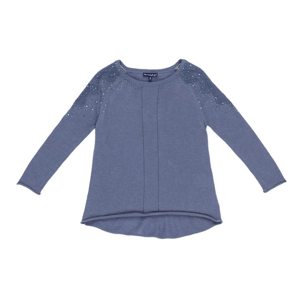 Μπλούζα κοριτσιού μπλέ με σχέδιο Artigli