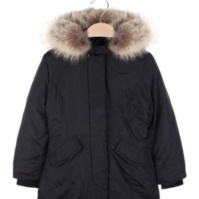 Μπουφάν πάρκα μαύρο με κουκούλα και γούνα τσέπες αγόρι lollitop
