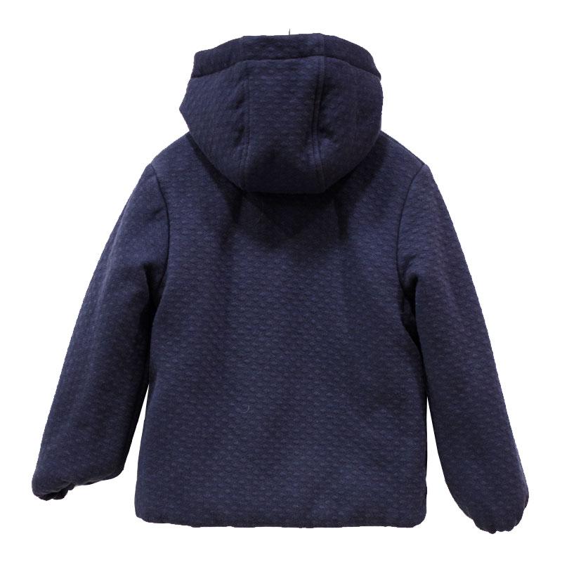 Μπουφάν αγοριού με κουκούλα μπλε Petit