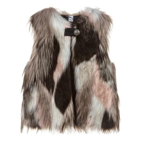 Γιλέκο κοριτσιού γούνινο με σχέδια 3Pommes