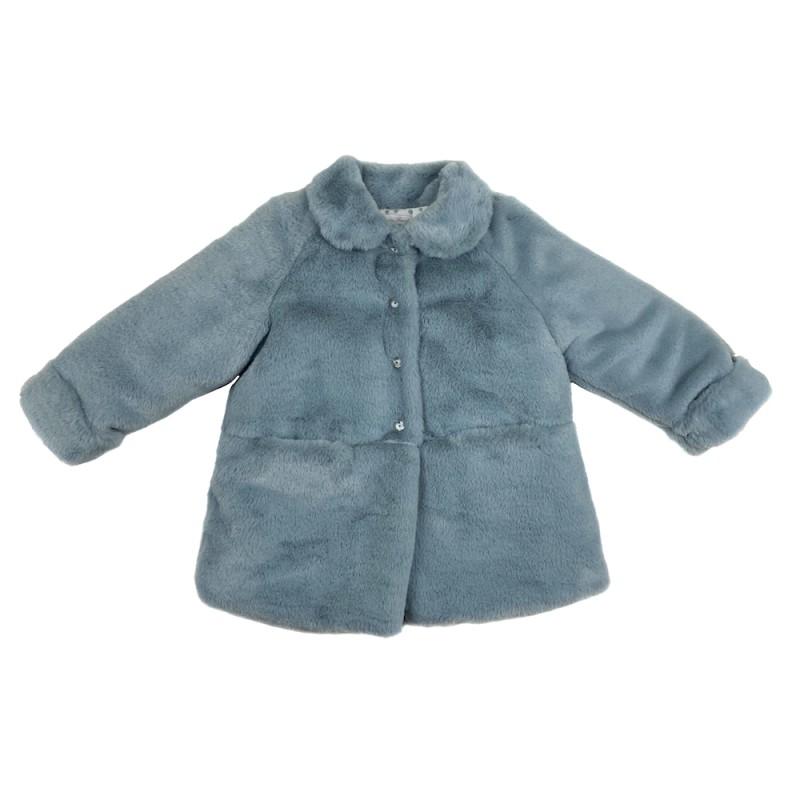 Γούνα παλτό σιελ χρώμα με πουα μπλε εσωτερικά πολύ ζεστή κορίτσι Martin Aranta