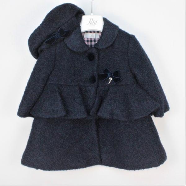 Παλτό μπλε με μπερέ κορίτσι petit