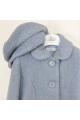 Παλτό πετρολ σιελ μπουκλε με μπερέ κορίτσι petit