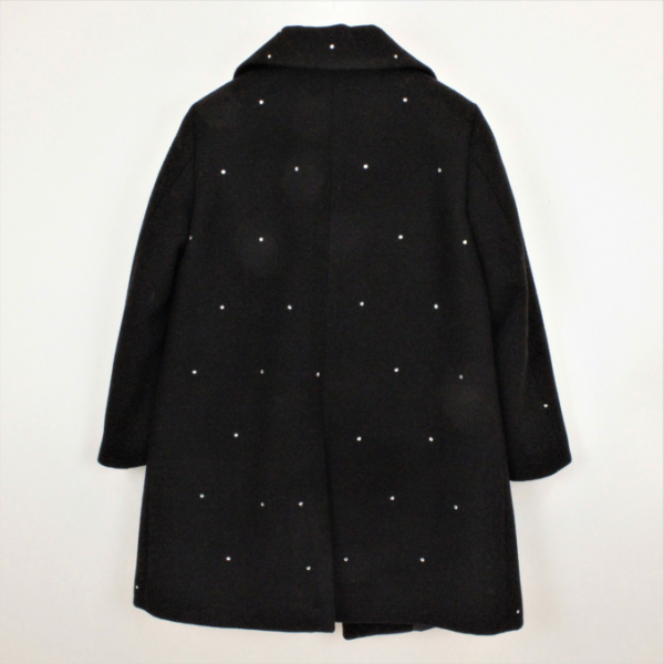Παλτό μαύρο με στρας μακρυ κορίτσι πολύ στιλάτο petit
