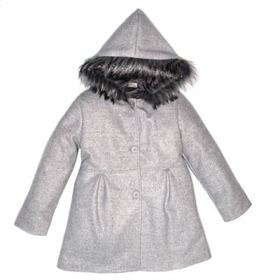 Παλτό κοριτσιού μακρύ γκρι Piccoli Grandi