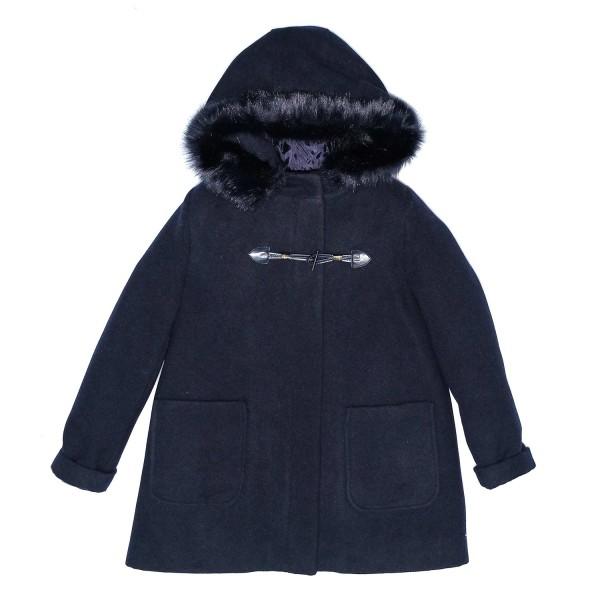 Παλτό κοριτσιού μακρύ μπλε Piccoli Grandi
