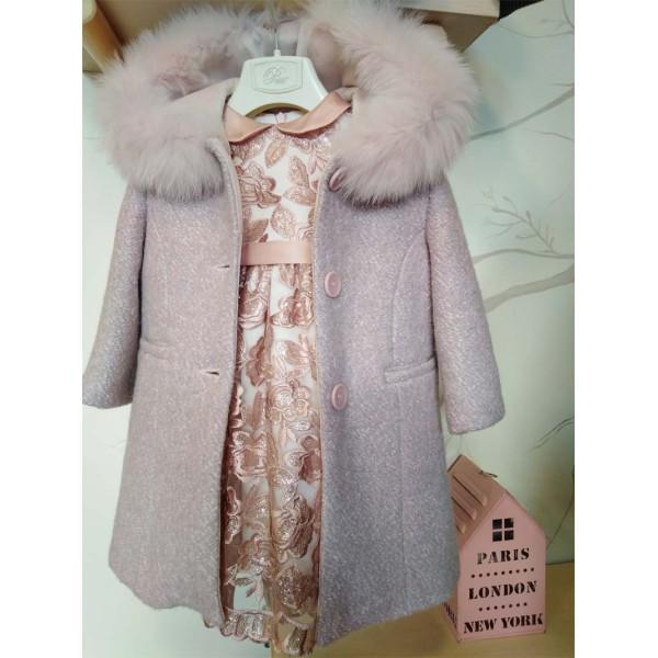 Παλτό - γούνα κοριτσιού ροζ Petit
