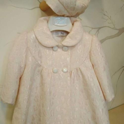 Παλτό ροζ βαφτιστικό κοριτσι Petit
